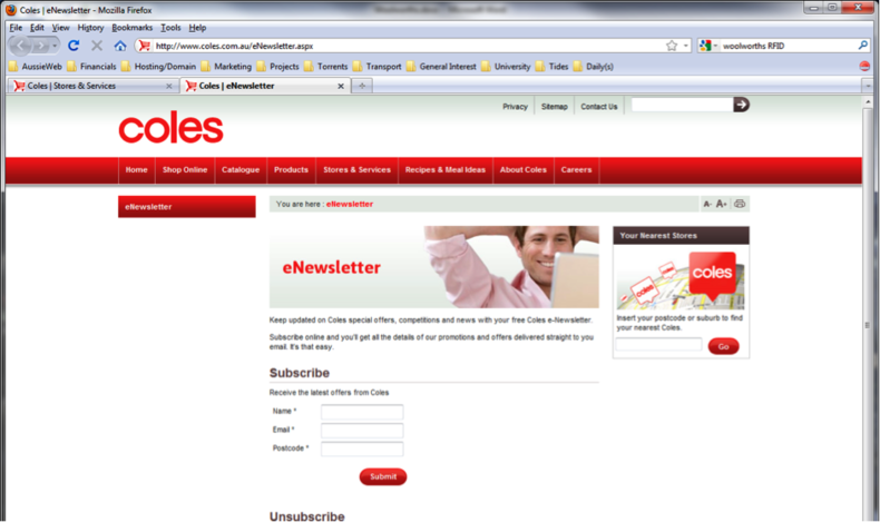 Figure 6 – Coles eNewsletter detail